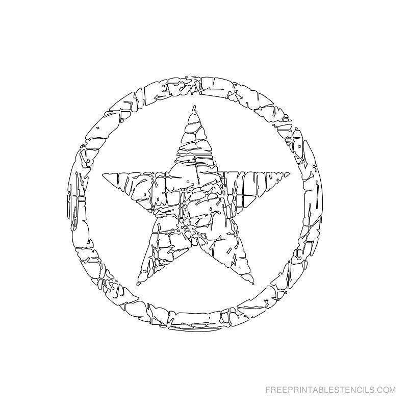 Printable star stencil 8