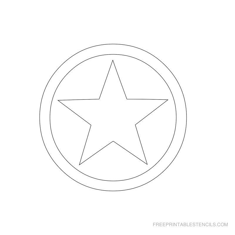 Printable star stencil 9